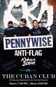Pennywise, Anti-Flag, and A Wilhelm Scream-The Cuban Club-Jan. 16, 2015