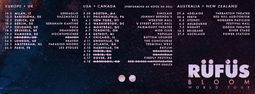 Rufus tour dates
