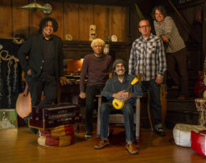 L-R Rusty Squeezebox, L-R Mike Randle, Johnny Echols, David Green & Dave Chapple