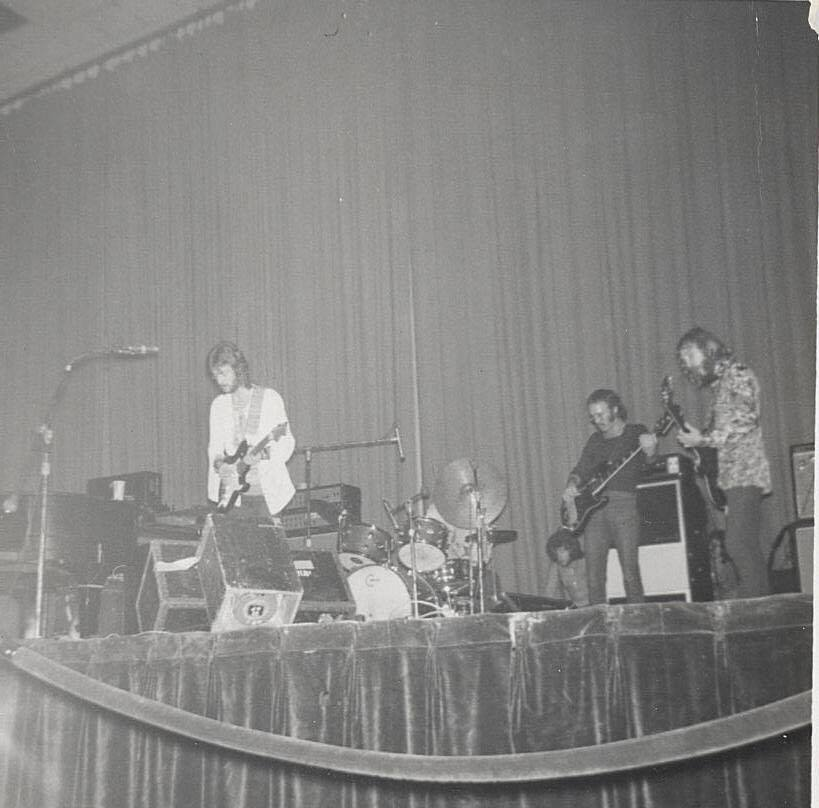 Derek and the Dominoes at Curtis Hixon Hall 12/1/70. Courtesy of William Daniel
